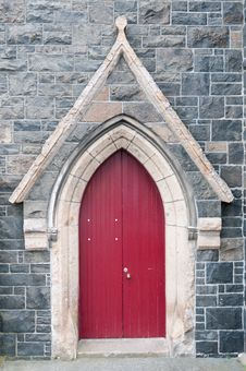 Free Red Church Door Stock Image - 20889801