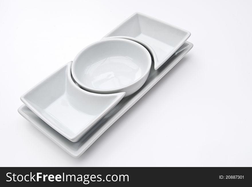 Empty salad bowls
