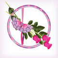 Free Valentine With A Bouquet Of Pink Roses Stock Photos - 20890073