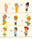 Free Cartoon People Job Seamless Pattern Royalty Free Stock Images - 20893309