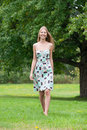 Free Girl Walking In Summer Park Royalty Free Stock Photography - 20893357