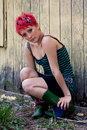 Free Red Headed Punk Royalty Free Stock Photography - 20897897