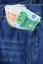 Free Euro Banknotes In Jeans Pocket Stock Images - 20898624