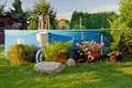 Free Pool In A Garden Royalty Free Stock Images - 20899969