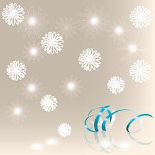 Free Winter Background With A Streamer Royalty Free Stock Photos - 20890088