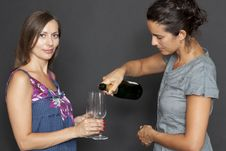 Free Two Woman Drinking Champagne Royalty Free Stock Photo - 20890225