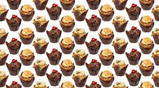 Free Cupcakes Wallpaper Pattern Repeat Stock Photography - 20890232