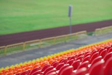 Free Empty Plastic Seats In A Stadium Stock Images - 20890294