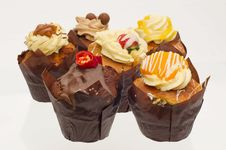 Free Cupcakes Of Different Flavours Stock Photography - 20890522