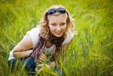Free Young Girl In Wheat Field Royalty Free Stock Images - 20890609