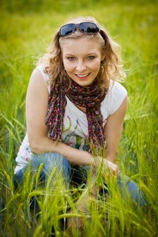 Free Young Girl In Wheat Field Stock Photos - 20890623