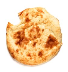 Image Of Bited Off Lavash-bread On White Royalty Free Stock Photos