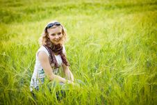Free Young Girl In Wheat Field Stock Image - 20890651