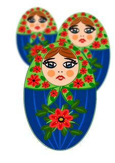 Free Russian Beauty Wooden Dolls Royalty Free Stock Image - 20890826