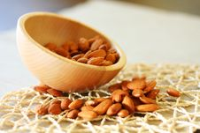 Free Bowl Of Almonds. Selective Focus Royalty Free Stock Photo - 20890955