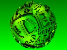 Free 3D Lime Sale Sphere Stock Photo - 20891320