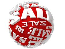 Free 3D Red Sale Sphere Stock Photos - 20891363