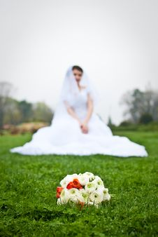 Free Bride S Cluster Bouquet Royalty Free Stock Image - 20891386