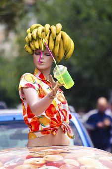 Free Banana  Girl Stock Photography - 20891892