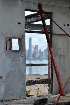 Panama City Old And New Royalty Free Stock Images