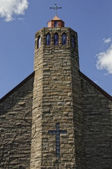 Free Brick Church With Cross Royalty Free Stock Photography - 20892007