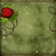 Free Beautiful Background With Red Rose Royalty Free Stock Image - 20892076