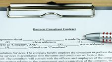 Free Business Consultant Contract Stock Images - 20892924