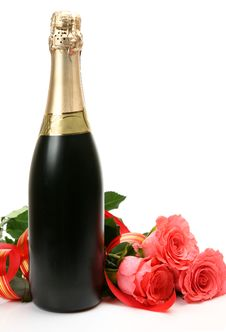 Free Champagne And Roses Royalty Free Stock Photo - 20893295