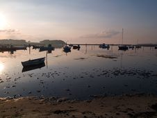 Free Reflection Of A Small Dinghy Dory Boats Royalty Free Stock Photography - 20893337