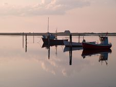 Free Reflection Of A Small Dinghy Dory Boats Stock Photography - 20893342