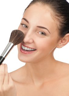 Free Woman Applying Make-up Stock Photo - 20893370