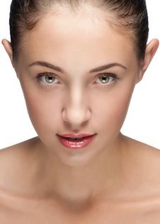 Free Close-up Of Beautiful Female Face Stock Photography - 20893372