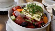 Free Traditonal Greek Salad Royalty Free Stock Images - 20893459