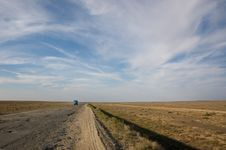 Free Road To Steppes. Kazakhstan Stock Image - 20893481