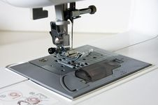 Free Sewing Machine Neddle And Presser Stock Image - 20893541
