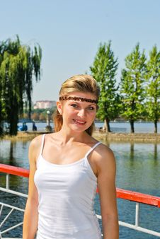 Free Beautiful Young Woman Outdoors Royalty Free Stock Photography - 20894027