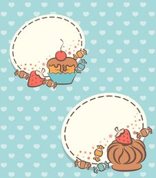 Free Background With Sweet Cakes. Stock Images - 20895774