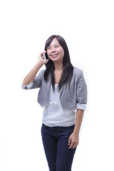 Free Working Women Talking Mobile Phone Stock Photography - 20896002