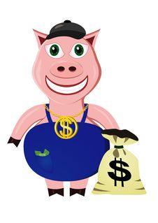 Rich Pig Stock Photography