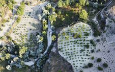 Free Aerial Of Farmland Crops Limestone Cappadocia Stock Photos - 20897163