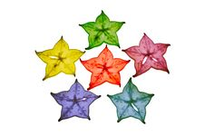 Free Colorful Star Fruit On White Background Royalty Free Stock Photography - 20897207