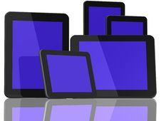 Free Group Of Tablet Computers Royalty Free Stock Image - 20897296