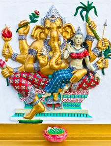 Free Ganesha Is The God Of India Royalty Free Stock Images - 20897619