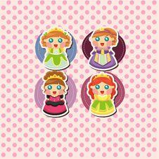 Free Cartoon Princess Card Royalty Free Stock Photos - 20897628
