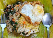Free Basil Pork With Rice On Banana Leaf Stock Images - 20897754