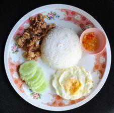 Free Fried Pork With Garlic Pepper Stock Photos - 20897763