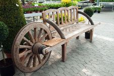 Free Creative Wooden Garden Bench Royalty Free Stock Image - 20897856