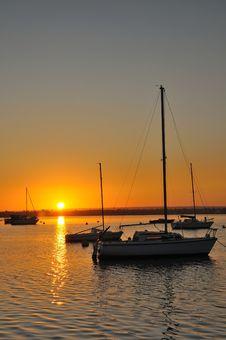 Free Sunrise Over Harbor Stock Photos - 20897993