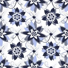 Free Seamless Floral Pattern Royalty Free Stock Image - 20899166