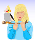 Free Small Girl With Her Small Bird Royalty Free Stock Photos - 2092088